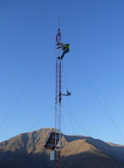 Installation in Chile – power via solar panels